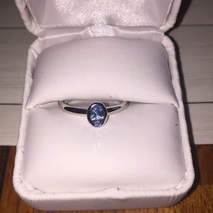 Silver topaz ring size 9